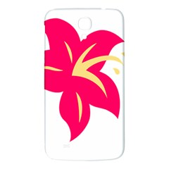 Flower Floral Lily Blossom Red Yellow Samsung Galaxy Mega I9200 Hardshell Back Case by Alisyart
