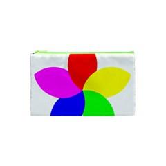 Fan Star Floral Cosmetic Bag (xs) by Alisyart