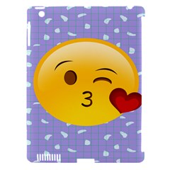 Face Smile Orange Red Heart Emoji Apple Ipad 3/4 Hardshell Case (compatible With Smart Cover) by Alisyart