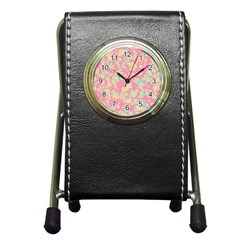 Pattern Pen Holder Desk Clocks by Valentinaart