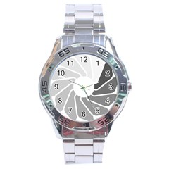 Flower Transparent Shadow Grey Stainless Steel Analogue Watch by Alisyart