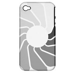 Flower Transparent Shadow Grey Apple Iphone 4/4s Hardshell Case (pc+silicone) by Alisyart