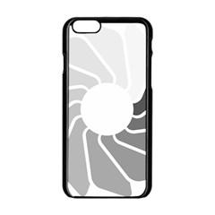 Flower Transparent Shadow Grey Apple Iphone 6/6s Black Enamel Case by Alisyart