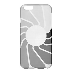 Flower Transparent Shadow Grey Apple Iphone 6 Plus/6s Plus Hardshell Case by Alisyart