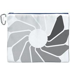 Flower Transparent Shadow Grey Canvas Cosmetic Bag (xxxl) by Alisyart