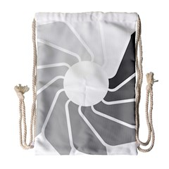 Flower Transparent Shadow Grey Drawstring Bag (large) by Alisyart
