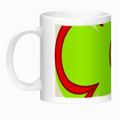 Flower Floral Red Green Night Luminous Mugs by Alisyart