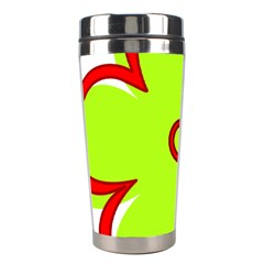 Flower Floral Red Green Stainless Steel Travel Tumblers by Alisyart