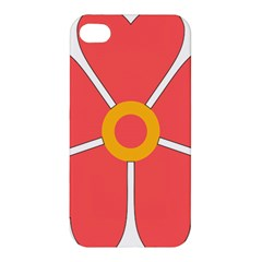 Flower With Heart Shaped Petals Pink Yellow Red Apple Iphone 4/4s Premium Hardshell Case by Alisyart