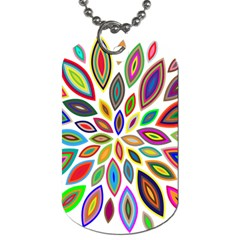 Chromatic Flower Petals Rainbow Dog Tag (two Sides) by Alisyart