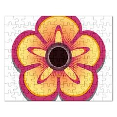 Flower Floral Hole Eye Star Rectangular Jigsaw Puzzl by Alisyart