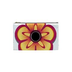 Flower Floral Hole Eye Star Cosmetic Bag (small)  by Alisyart
