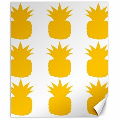 Fruit Pineapple Printable Orange Yellow Canvas 20  X 24   by Alisyart