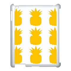 Fruit Pineapple Printable Orange Yellow Apple Ipad 3/4 Case (white) by Alisyart