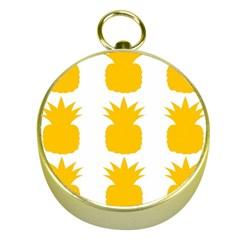Fruit Pineapple Printable Orange Yellow Gold Compasses by Alisyart
