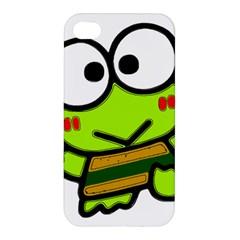 Frog Green Big Eye Face Smile Apple Iphone 4/4s Hardshell Case by Alisyart