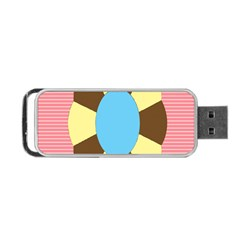 Garage Door Quilts Flower Line Portable Usb Flash (two Sides) by Alisyart