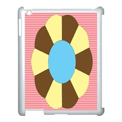 Garage Door Quilts Flower Line Apple Ipad 3/4 Case (white) by Alisyart