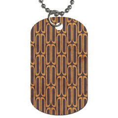 Chains Abstract Seamless Dog Tag (two Sides) by Simbadda