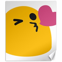 Happy Heart Love Face Emoji Canvas 20  X 24   by Alisyart