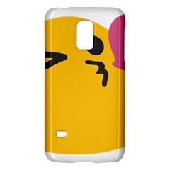 Happy Heart Love Face Emoji Galaxy S5 Mini by Alisyart