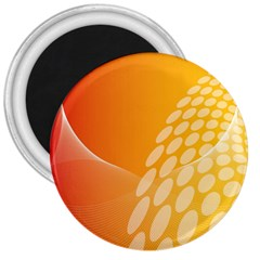 Abstract Orange Background 3  Magnets by Simbadda