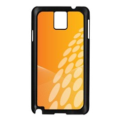 Abstract Orange Background Samsung Galaxy Note 3 N9005 Case (black) by Simbadda