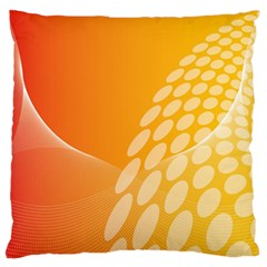 Abstract Orange Background Large Flano Cushion Case (two Sides) by Simbadda