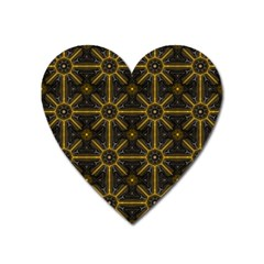 Digitally Created Seamless Pattern Tile Heart Magnet by Simbadda