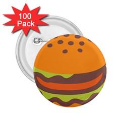 Hamburger 2 25  Buttons (100 Pack)  by Alisyart