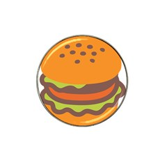 Hamburger Hat Clip Ball Marker (4 Pack) by Alisyart