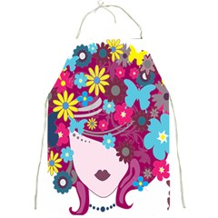 Floral Butterfly Hair Woman Full Print Aprons by Alisyart