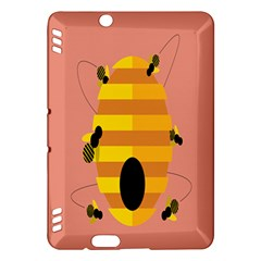 Honeycomb Wasp Kindle Fire Hdx Hardshell Case by Alisyart
