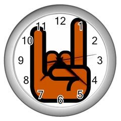 Metal Hand Wall Clocks (silver)  by Alisyart