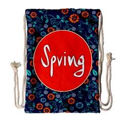 Floral Texture Pattern Card Floral Seamless Vector Drawstring Bag (large) by Simbadda