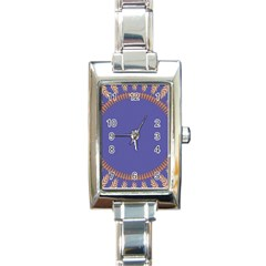 Frame Of Leafs Pattern Background Rectangle Italian Charm Watch by Simbadda