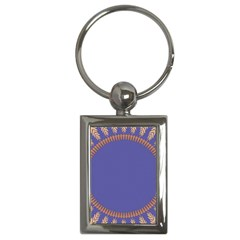 Frame Of Leafs Pattern Background Key Chains (rectangle)  by Simbadda