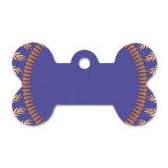 Frame Of Leafs Pattern Background Dog Tag Bone (one Side) by Simbadda