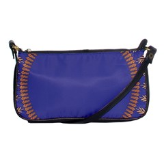 Frame Of Leafs Pattern Background Shoulder Clutch Bags by Simbadda