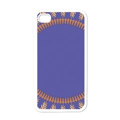 Frame Of Leafs Pattern Background Apple Iphone 4 Case (white) by Simbadda