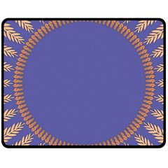 Frame Of Leafs Pattern Background Double Sided Fleece Blanket (medium)  by Simbadda