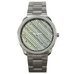 Abstract Seamless Background Pattern Sport Metal Watch by Simbadda