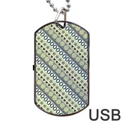 Abstract Seamless Background Pattern Dog Tag Usb Flash (two Sides) by Simbadda