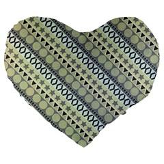 Abstract Seamless Background Pattern Large 19  Premium Flano Heart Shape Cushions by Simbadda