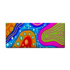 Hand Painted Digital Doodle Abstract Pattern Cosmetic Storage Cases by Simbadda