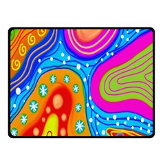 Hand Painted Digital Doodle Abstract Pattern Fleece Blanket (small) by Simbadda