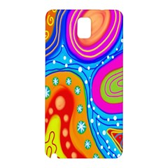 Hand Painted Digital Doodle Abstract Pattern Samsung Galaxy Note 3 N9005 Hardshell Back Case by Simbadda