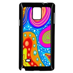 Hand Painted Digital Doodle Abstract Pattern Samsung Galaxy Note 4 Case (black) by Simbadda