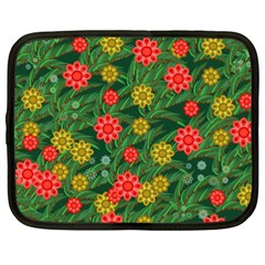 Completely Seamless Tile With Flower Netbook Case (xxl)  by Simbadda