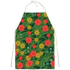 Completely Seamless Tile With Flower Full Print Aprons by Simbadda